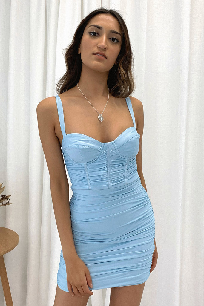 *Pre-Order* Presley Dress - Blue *Shipping Early Nov*