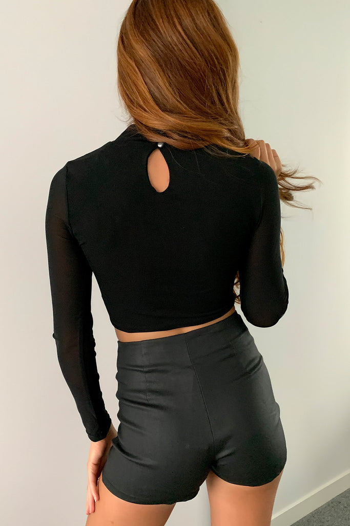 Jewel Mesh Top - Black