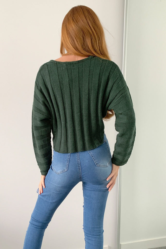 Lulu Cropped Knit - Emerald