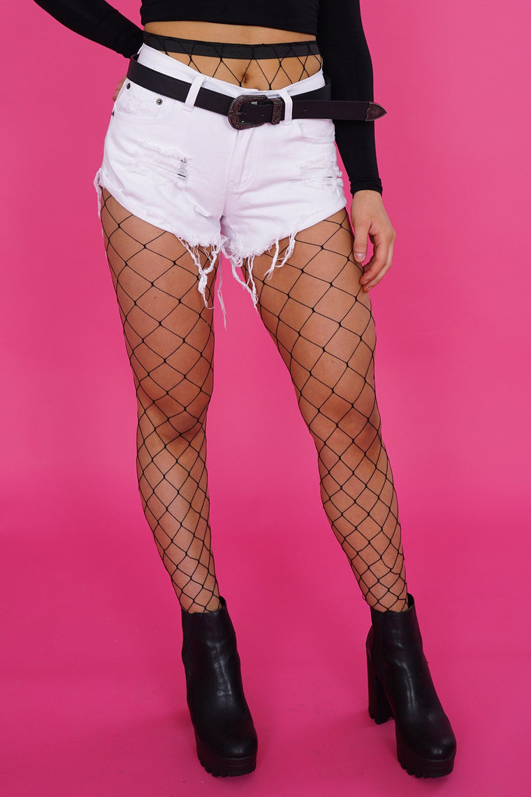 Kylie Fishnet Stocking - Black