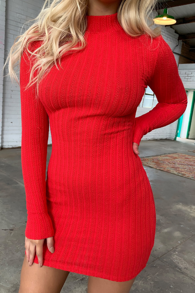 Natalee Dress - Red