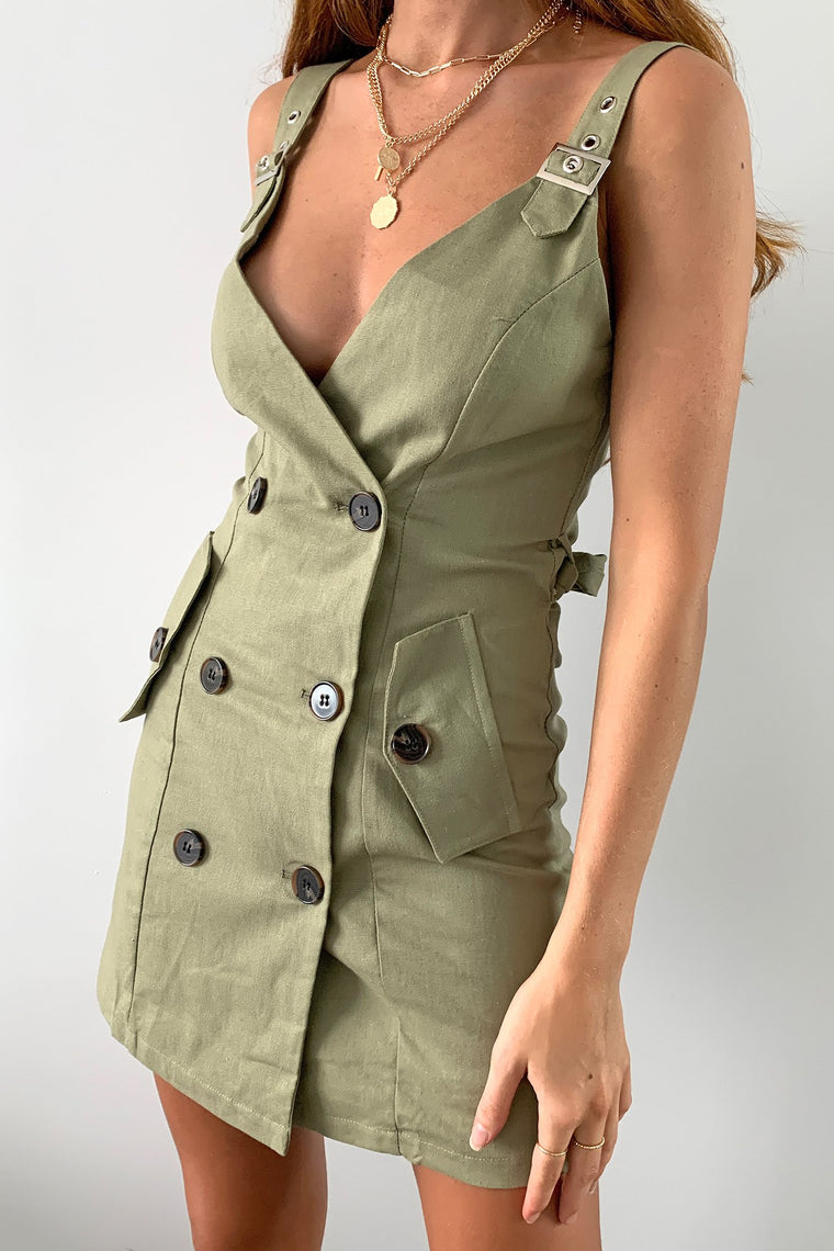 Holt Dress - Khaki