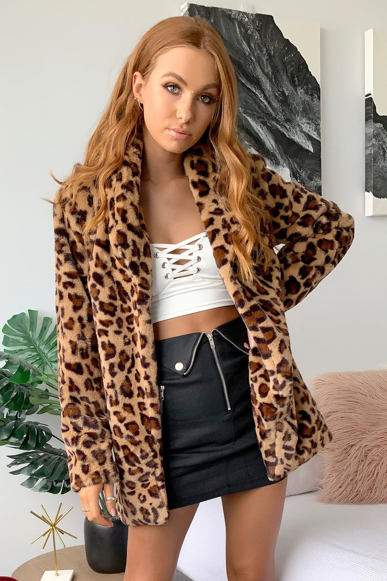 Cataleya Fur Coat - Leopard