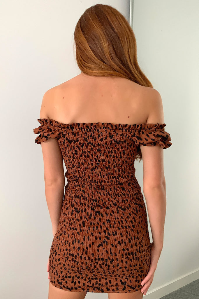 Maisie Dress - Brown