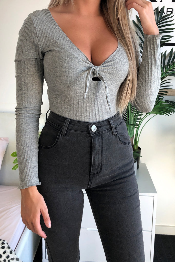 Marena Jeans - Charcoal