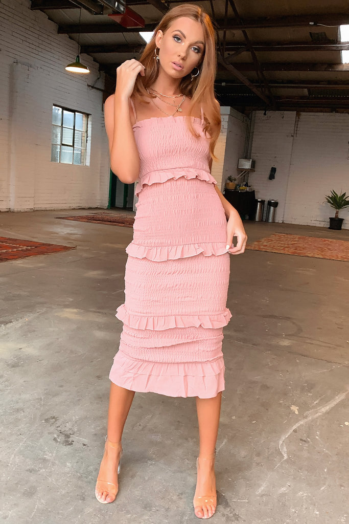 Omar Dress Full Length - Blush