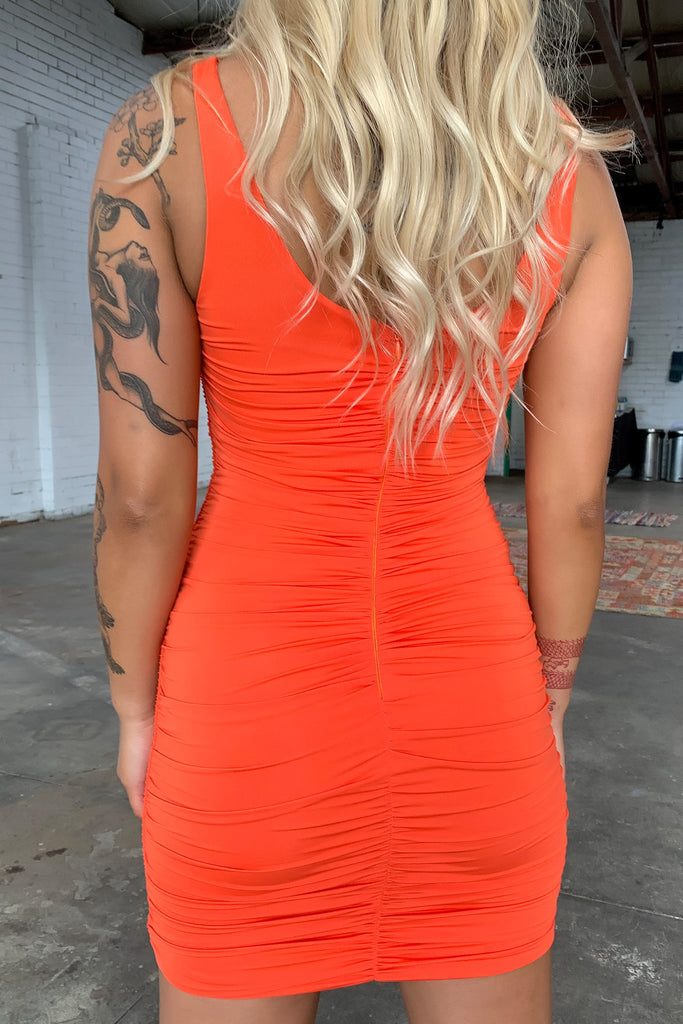 Jakah Dress - Orange