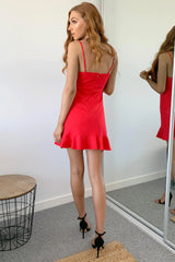 CARLY DRESS - RED