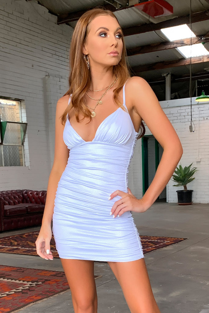 Romy Dress - Metallic Silver