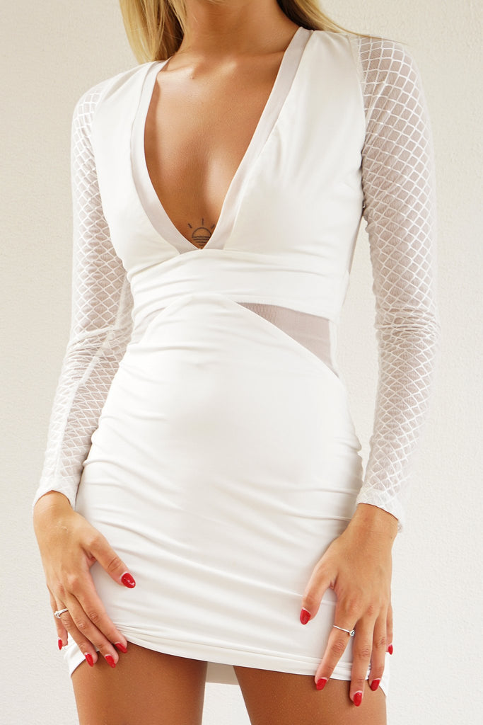 SANTIGO DRESS - WHITE