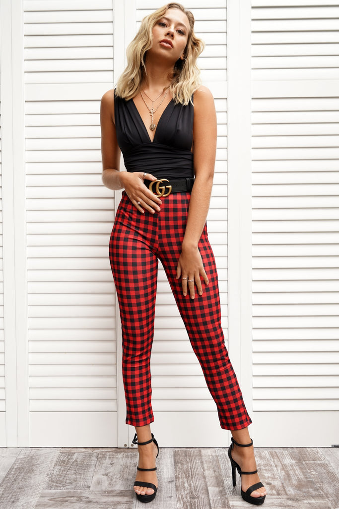 Stella Pant - Red/Black