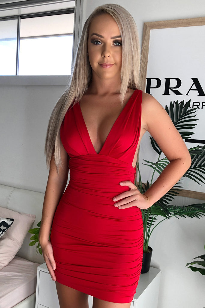 TRIXIE DRESS - RED