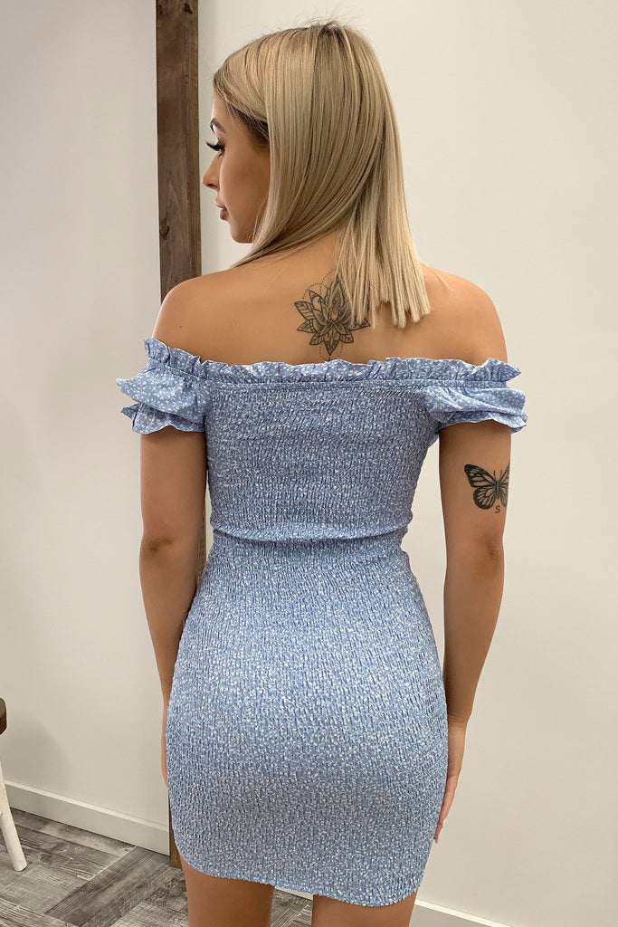 Maisie Dress - Baby Blue Floral