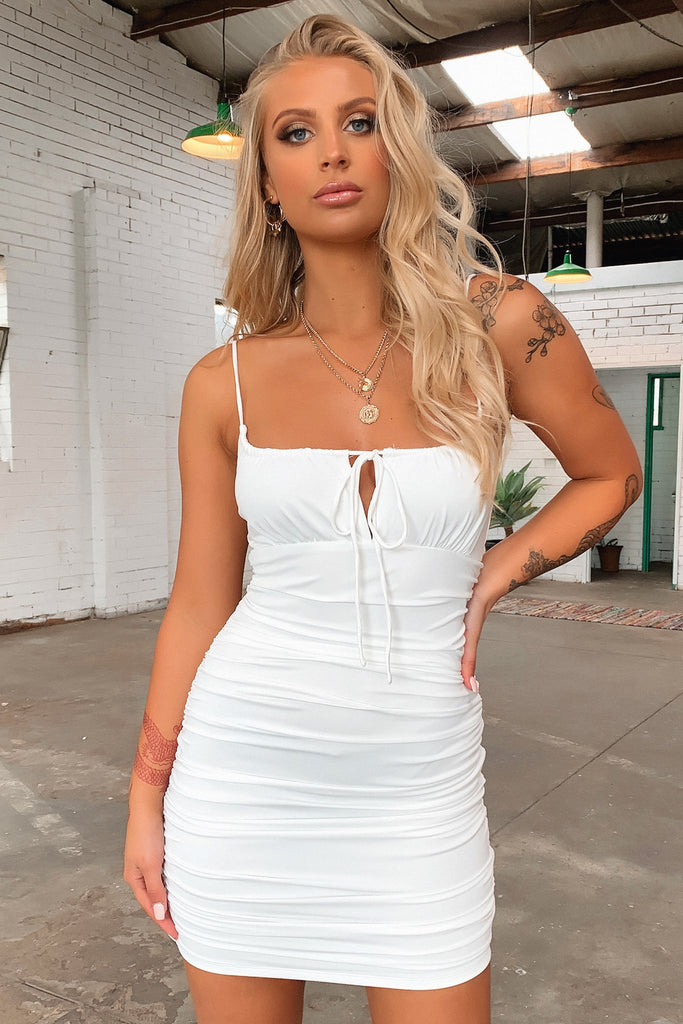 Warner Dress - White