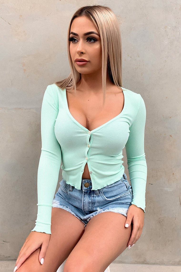 Valley Long Sleeve Crop - Green