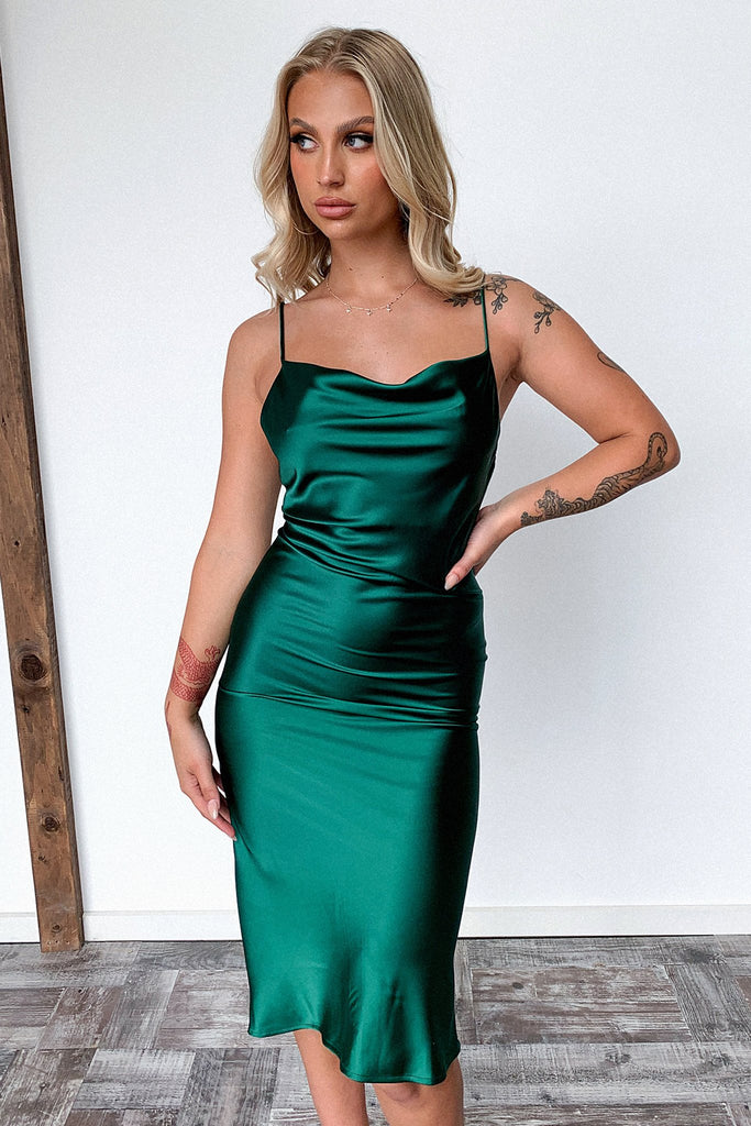 Aryan Dress - Emerald