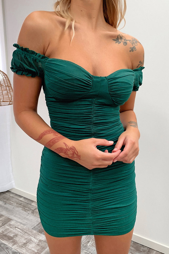 Lynx Dress - Dark Green