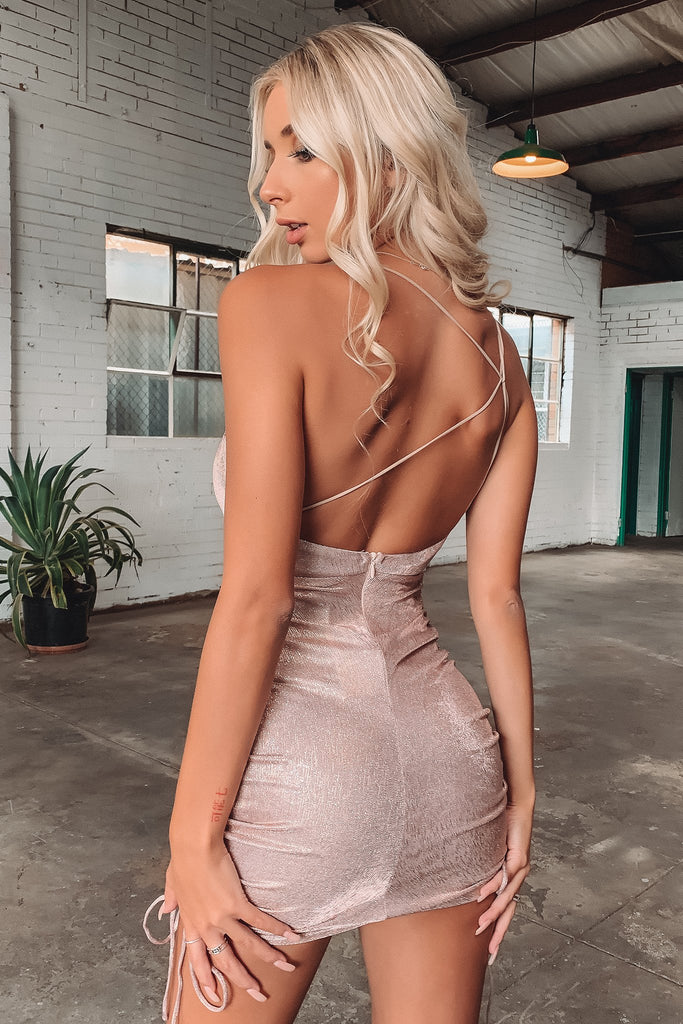 Lennox Dress - Rose Gold