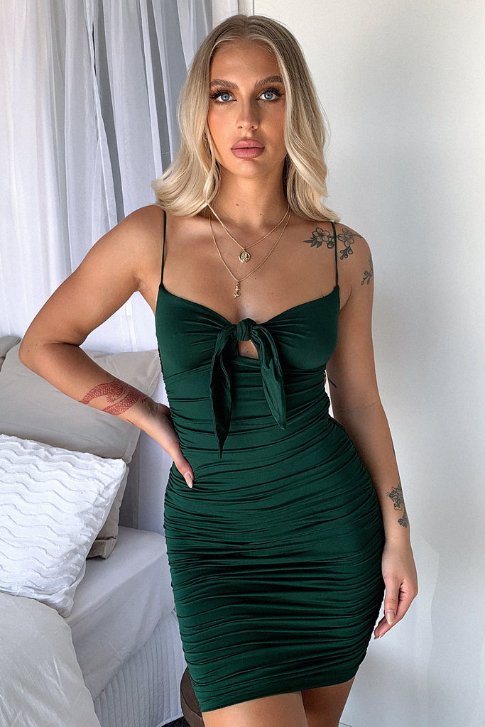 Aman Dress - Emerald