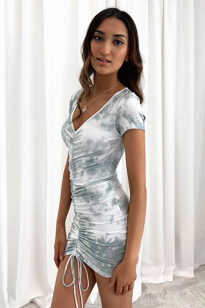 Antonio Dress - Green Tie Dye