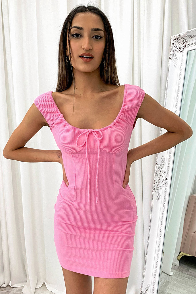 Aubrey Dress - Barbie Pink