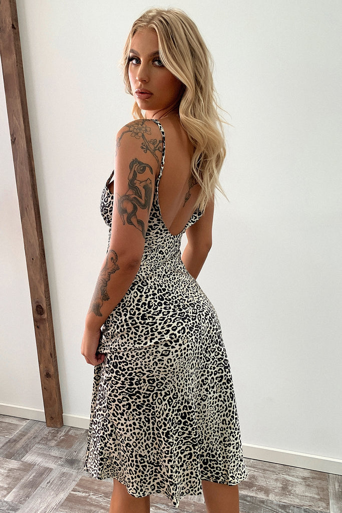 Maeve Dress - Light Leopard