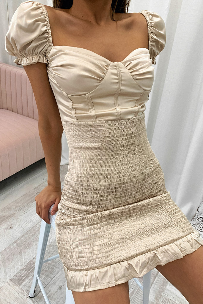 Declan Dress - Champagne
