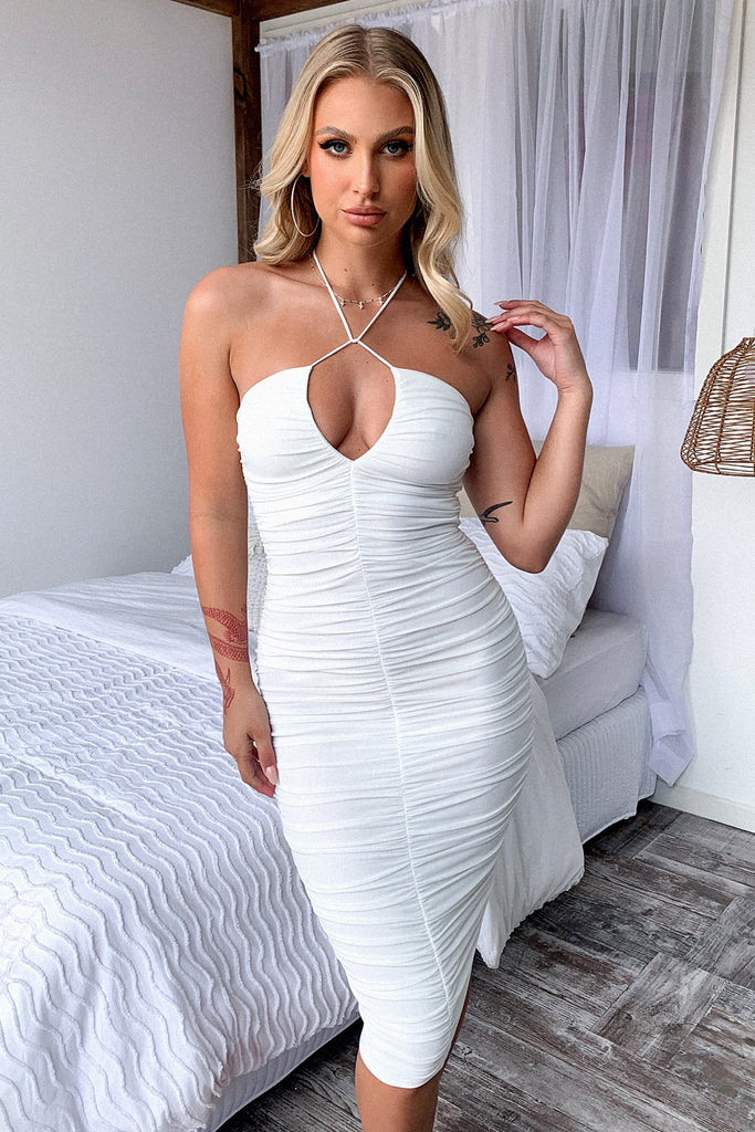 Emna Midi Dress - White