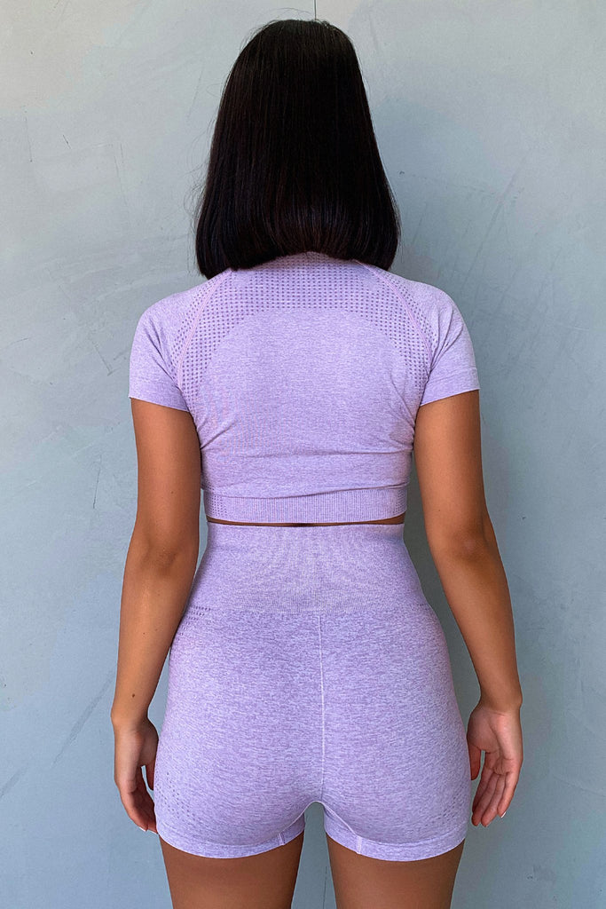 TSF Fox Short Sleeve Crop - Purple