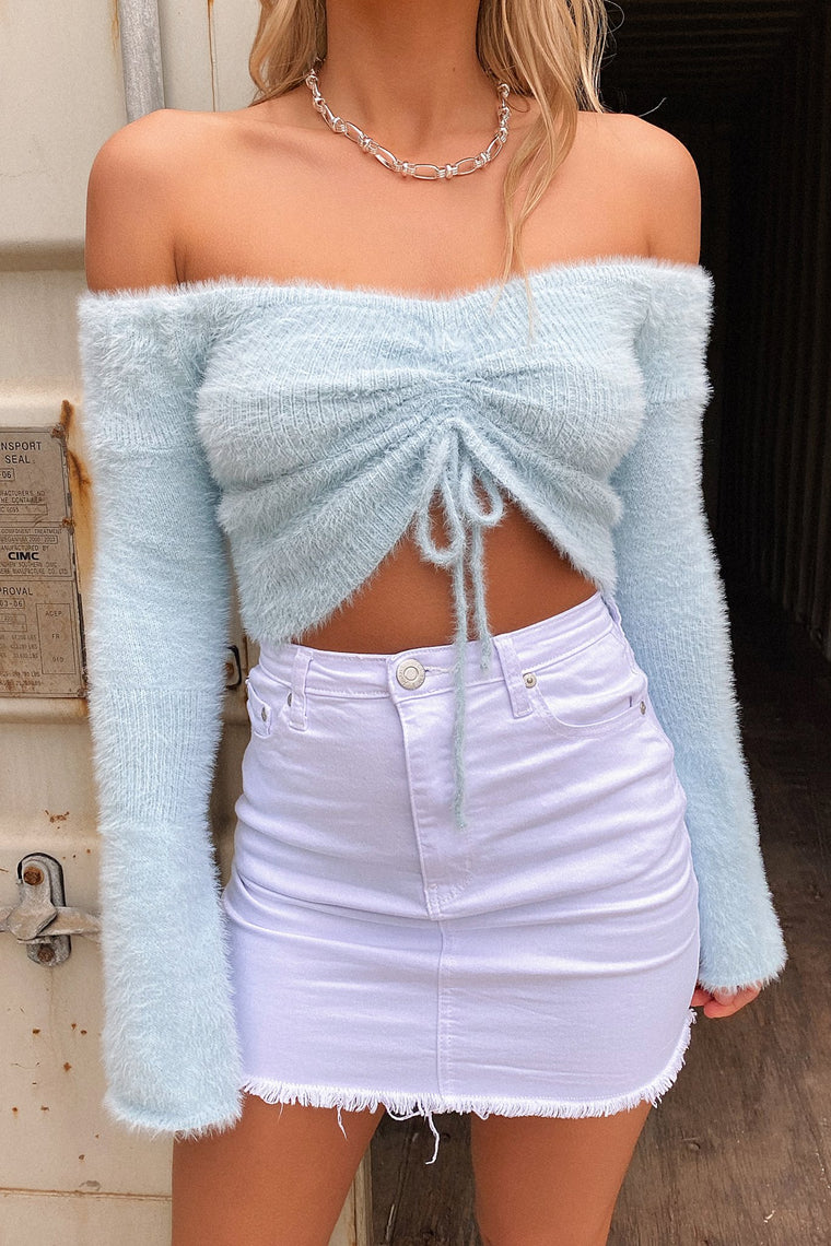 Cohen Fluffy Top - Baby Blue