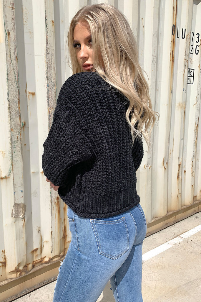 Pala Knitted Jumper - Black
