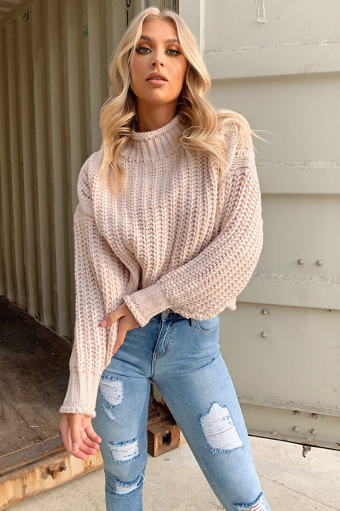 Pala Knitted Jumper - Pale Pink