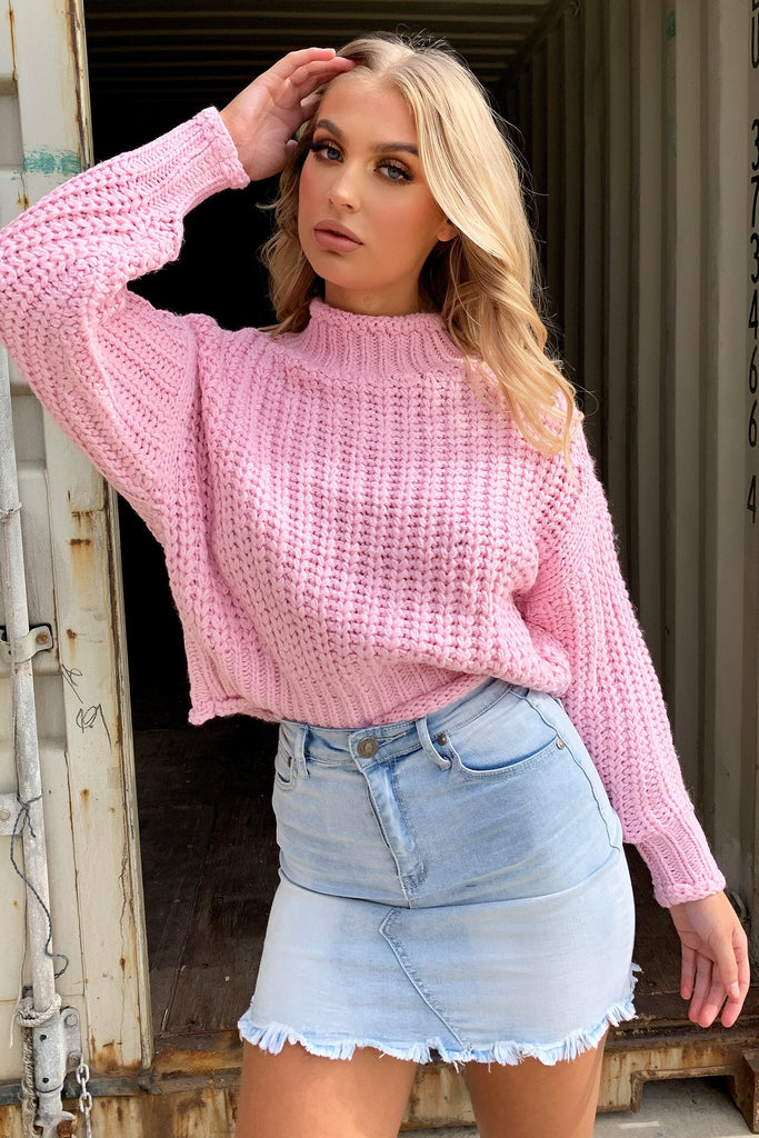 Pala Knitted Jumper - Candy Pink