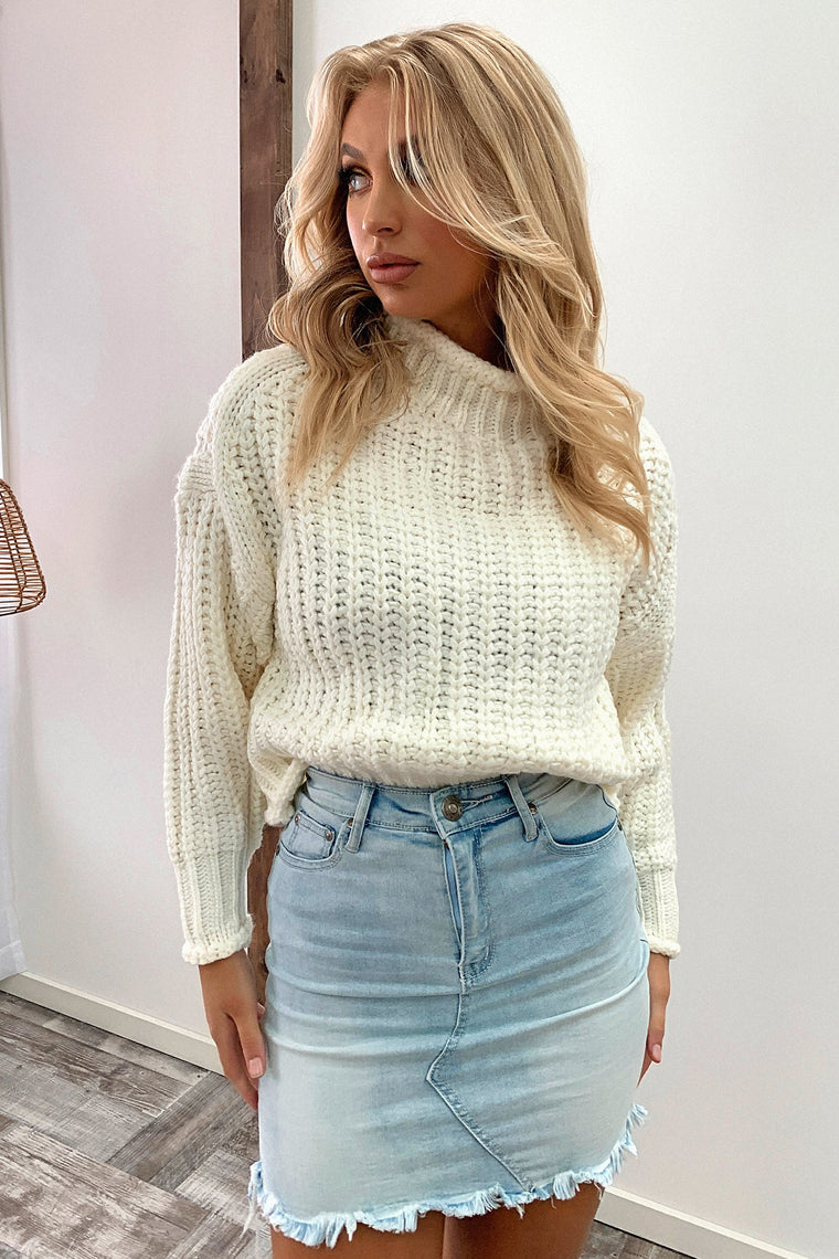 Pala Knitted Jumper - White