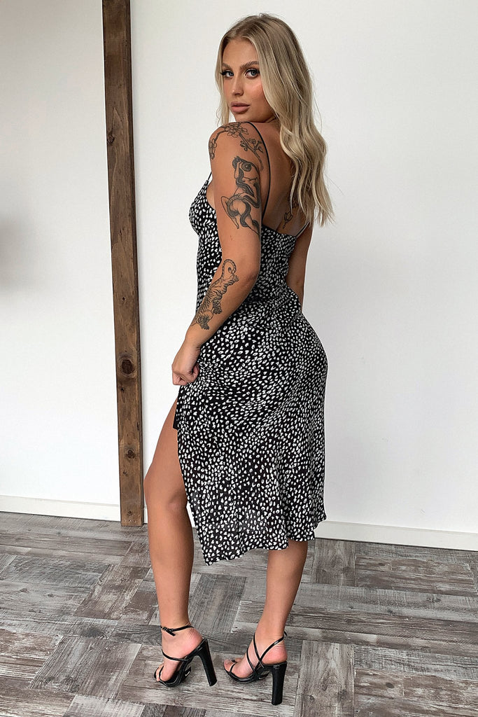 Jennifer Dress - Black Leopard