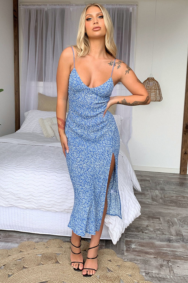 Jennifer Dress - Blue Floral