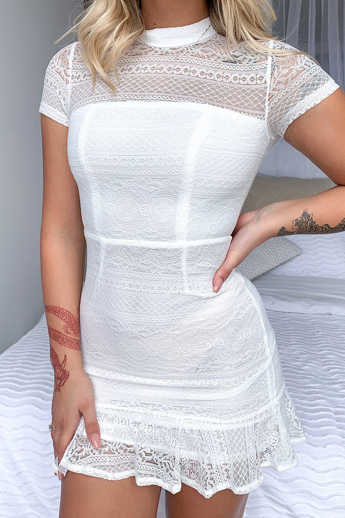 Katy Dress - White