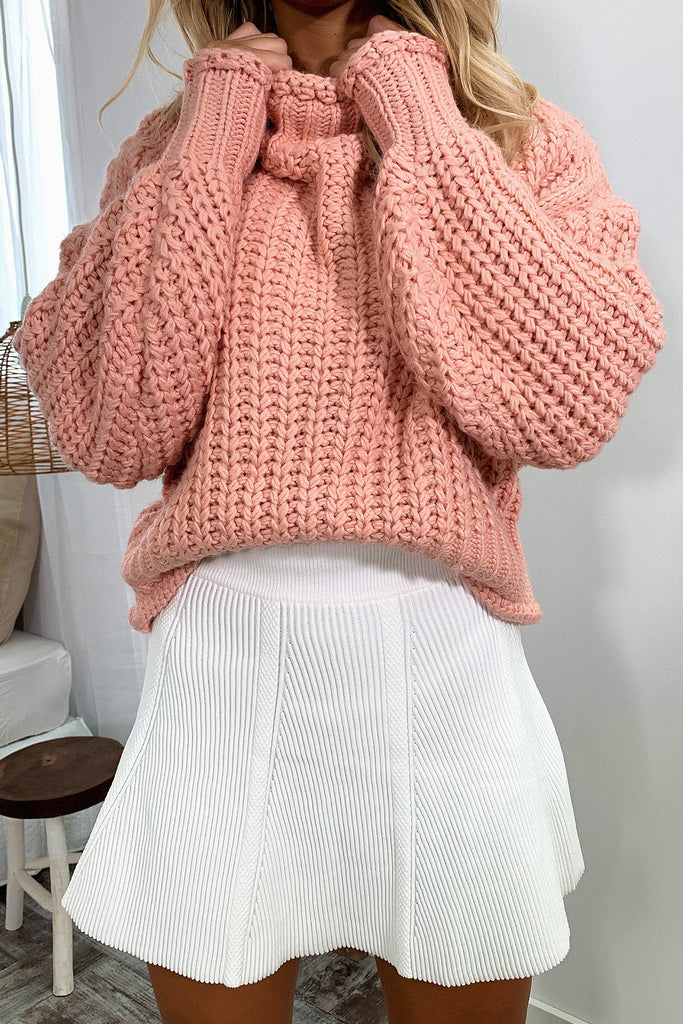 Pala Knitted Jumper - Blush