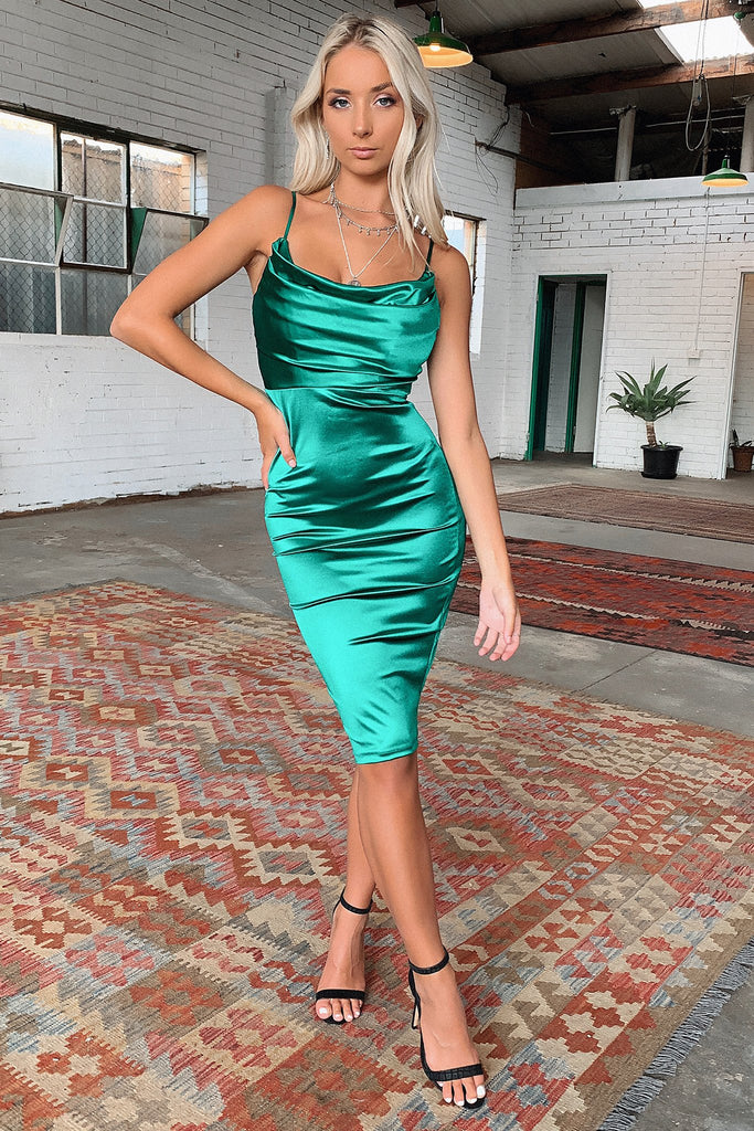 Boonah Dress - Emerald