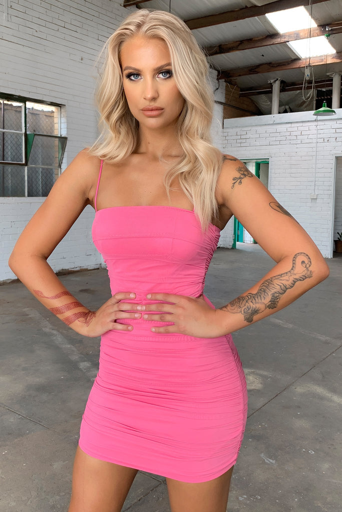 Mollex Dress - Hot Pink