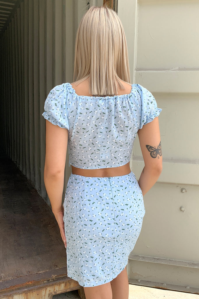 Faith Top - Blue Floral