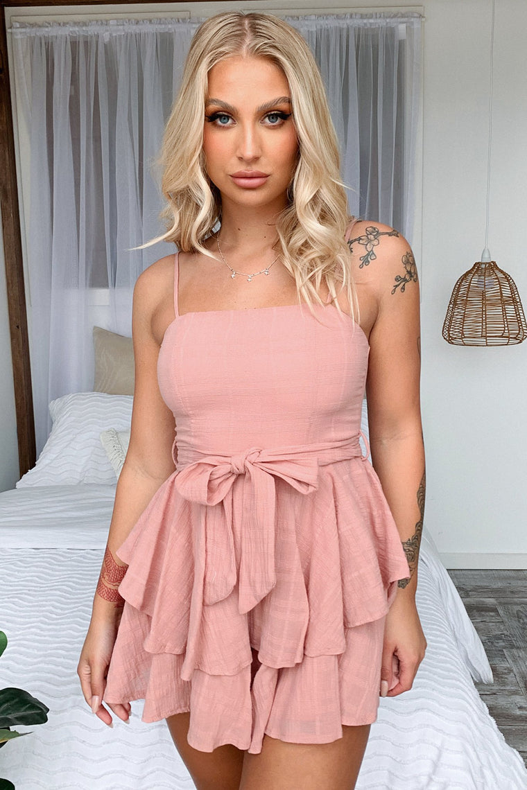 Meagan Playsuit - Blush