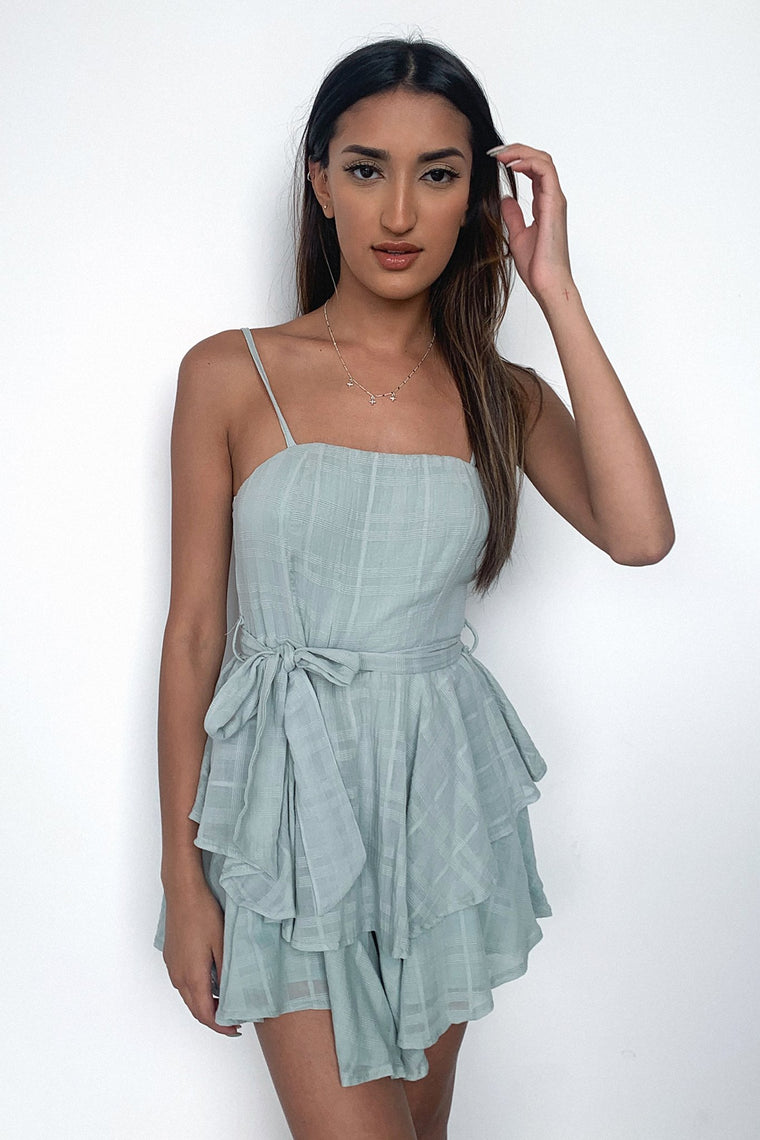 Meagan Playsuit - Sage