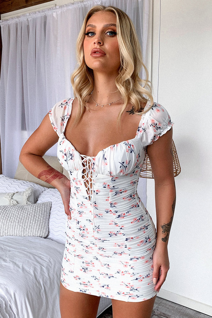 Meeta Dress - White Floral