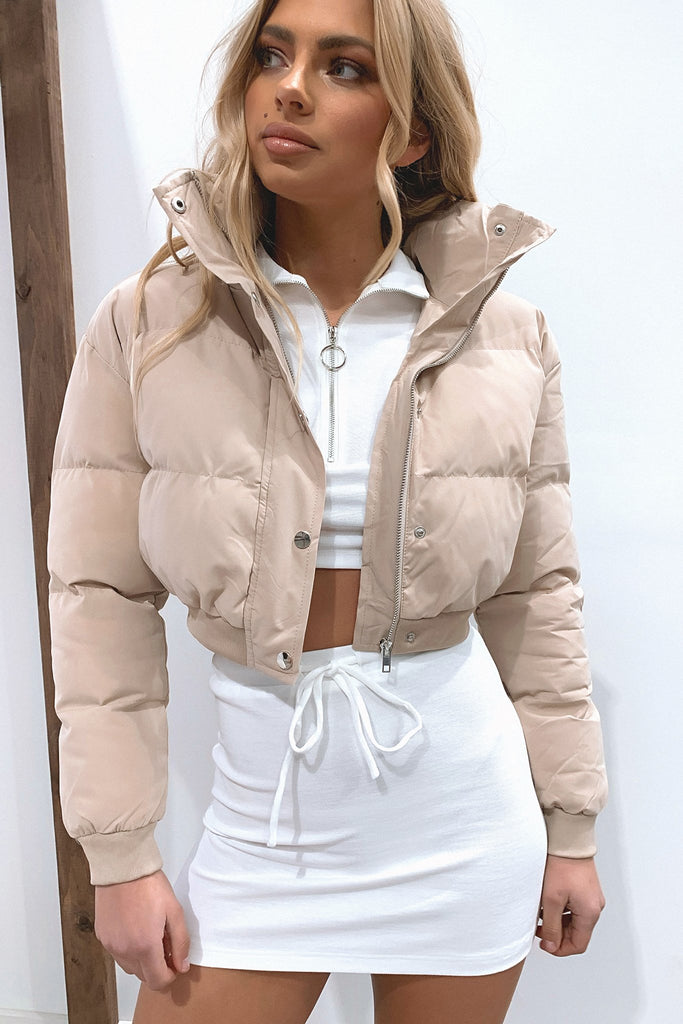 Karlo Puffer Jacket - Tan