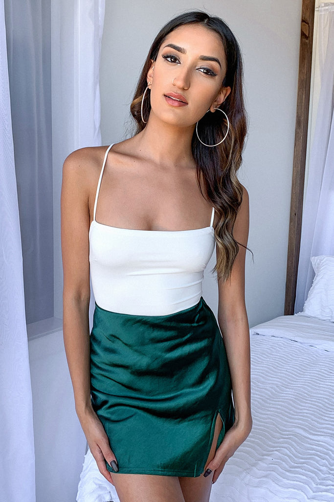 Zara Skirt Silk - Emerald