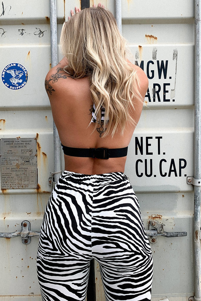 Pilot Buckle Crop - Zebra