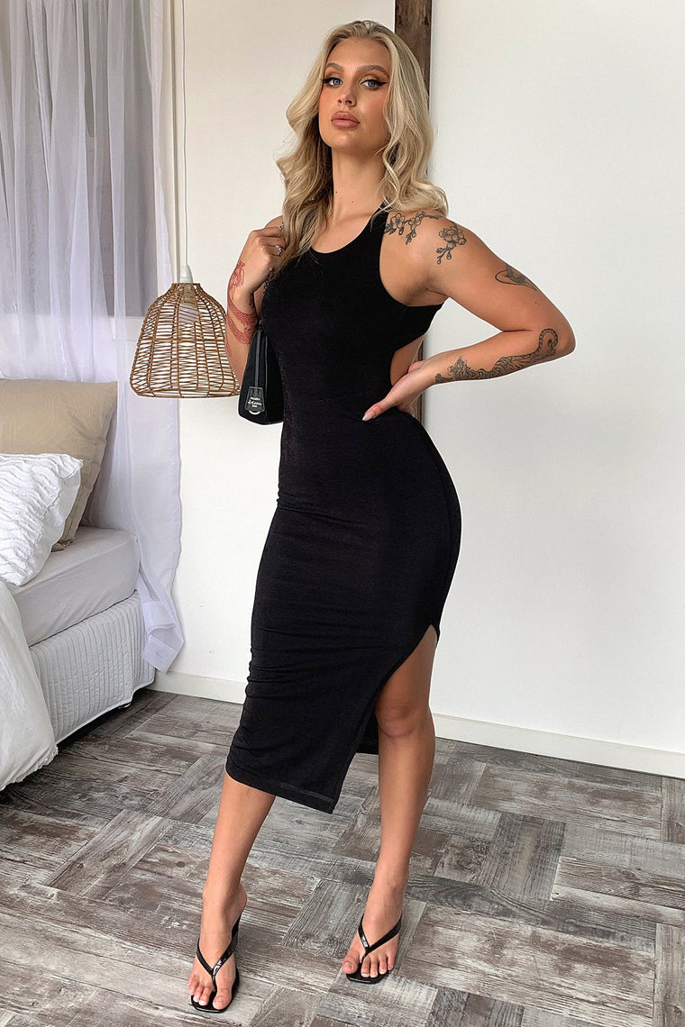 Renae Midi dress - Black