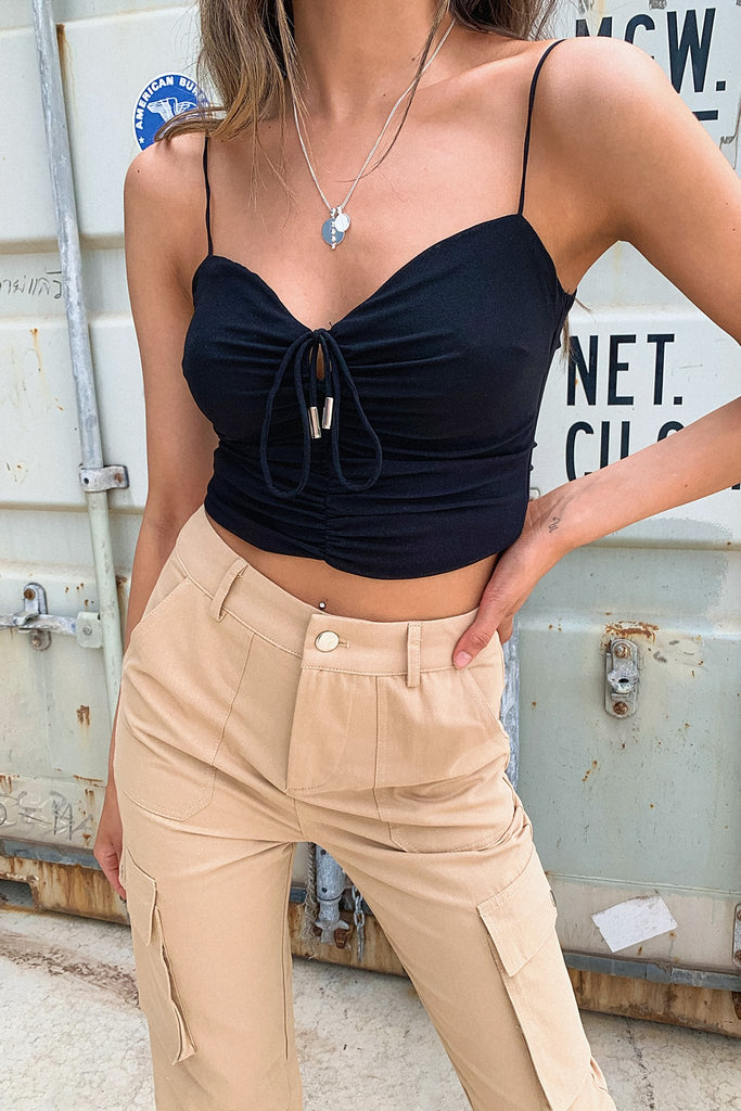 Renn Crop - Black