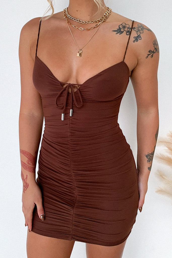 Renn Dress - Brown